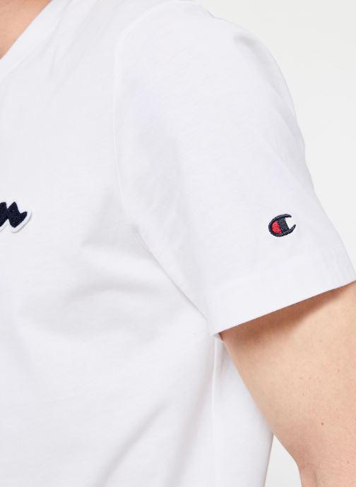 Tøj Champion Champion Large Script Logo Crewneck T-Shirt Hvid se forfra