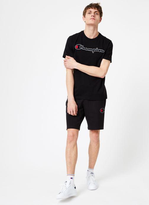 Kleding Champion Champion Large Script Logo Crewneck T-Shirt Zwart onder