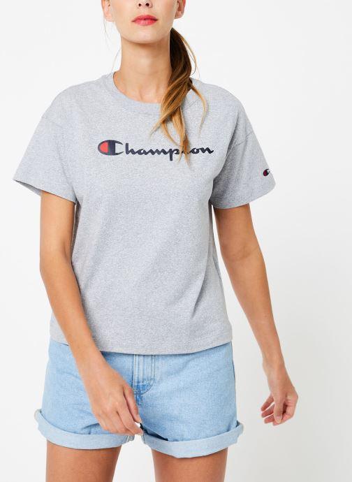 Kleding Champion Champion Large Script Logo Crewneck T-Shirt Grijs rechts