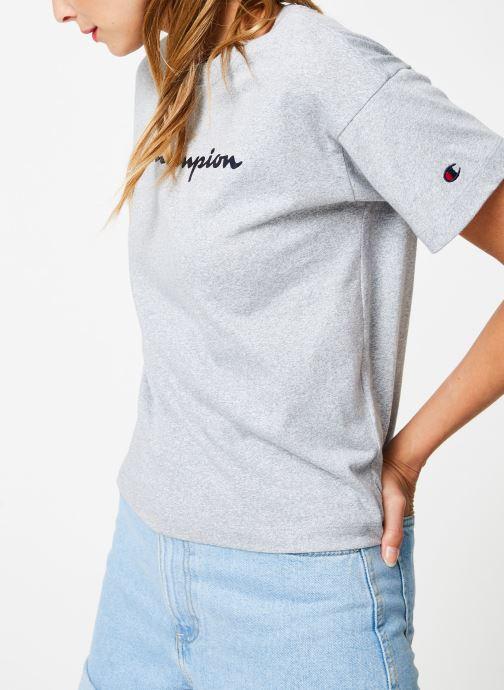 Kleding Champion Champion Large Script Logo Crewneck T-Shirt Grijs detail