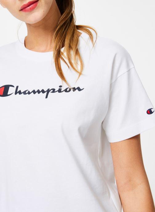 Kleding Champion Champion Large Script Logo Crewneck T-Shirt Wit voorkant
