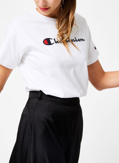 Vêtements Champion Champion Large Script Logo Crewneck T-Shirt Blanc vue détail/paire