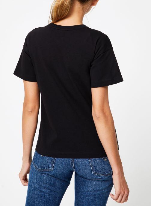 Kleding Champion Champion Large Script Logo Crewneck T-Shirt Zwart model