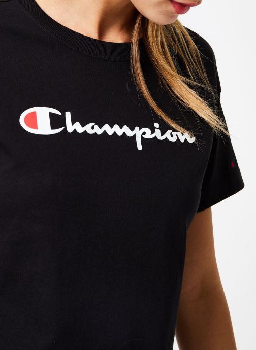 Kleding Champion Champion Large Script Logo Crewneck T-Shirt Zwart voorkant