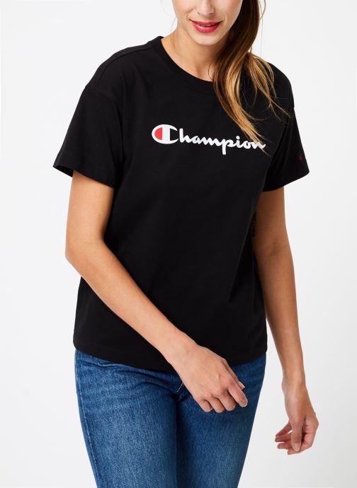Vêtements Champion Champion Large Script Logo Crewneck T-Shirt Noir vue droite