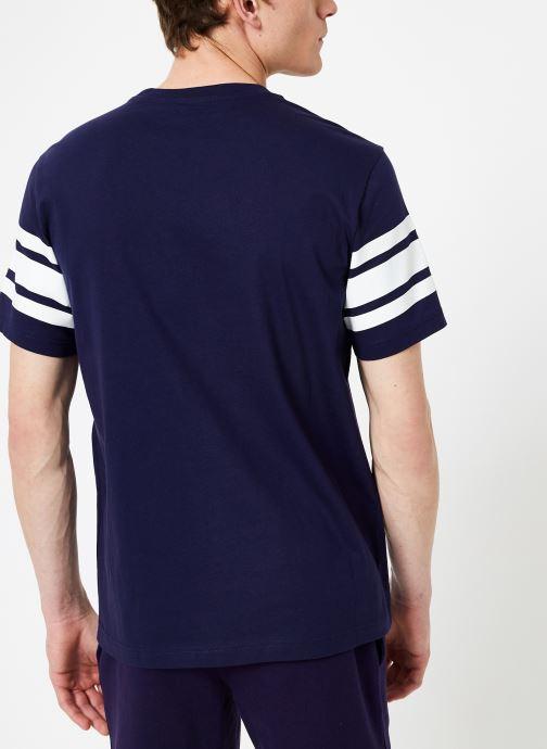 Champion Champion Large C-Logo Crewneck T-Shirt with Stripe (Bleu) - Vêtements chez Sarenza (372628) bnMQt