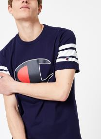 Kläder Tillbehör Champion Large C-Logo Crewneck T-Shirt with Striped Sleeves
