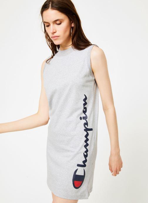 Vêtements Champion Champion Sleeveless Dress with Oversized Vertical Script Logo Gris vue détail/paire