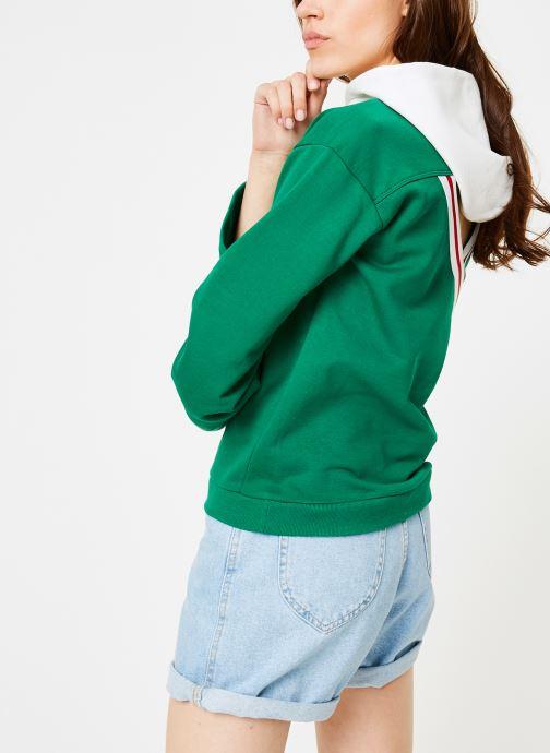Kleding Champion Champion Large Script Logo Bi-Colour Hooded Sweatshirt Groen detail