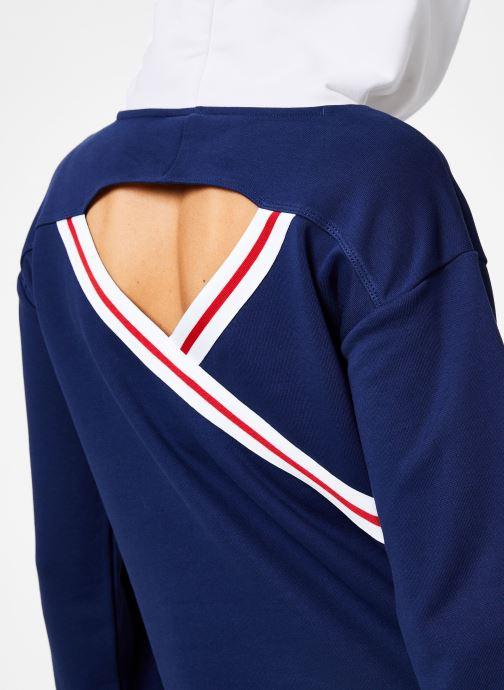 Vêtements Champion Champion Large Script Logo Bi-Colour Hooded Sweatshirt Bleu vue face