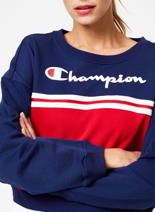 Tøj Champion Champion Large Script Logo Colour Block Crewneck Cropped Sweatshirt Multi se forfra