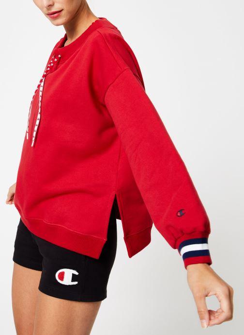 Kleding Champion Champion Boat Neck Sweatshirt with Sleeve Logo Rood detail