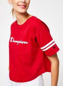 Champion Large Script Logo Cropped Crewneck T-Shirt