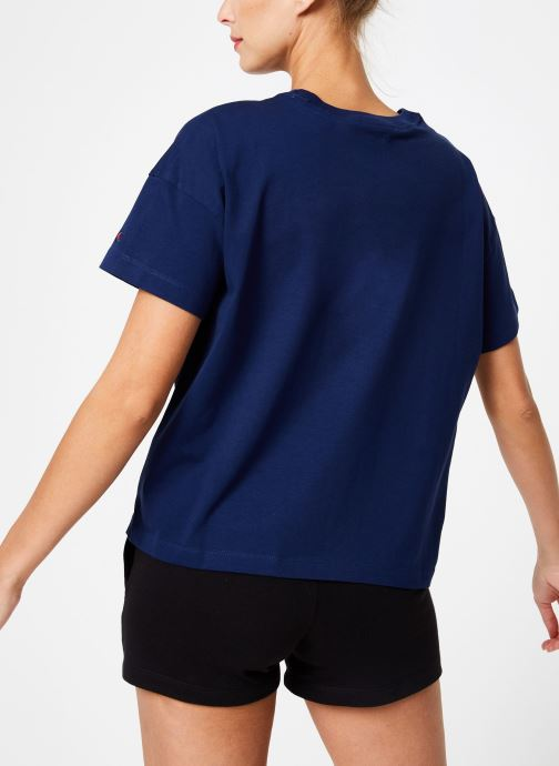 Tøj Champion Champion C-Logo Crewneck T-Shirt Blå se skoene på
