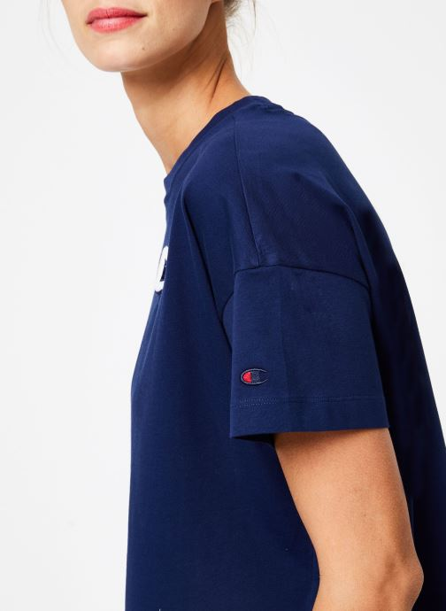 Vêtements Champion Champion C-Logo Crewneck T-Shirt Bleu vue face