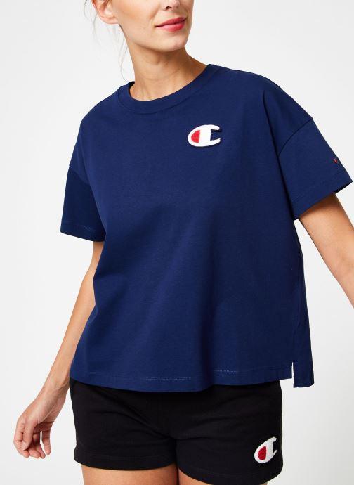 Vêtements Champion Champion C-Logo Crewneck T-Shirt Bleu vue détail/paire
