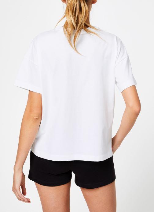 Kleding Champion Champion C-Logo Crewneck T-Shirt Wit model