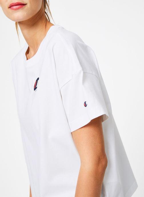 Tøj Champion Champion C-Logo Crewneck T-Shirt Hvid se forfra