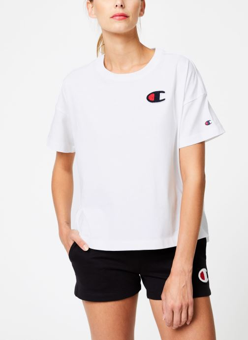 Kleding Champion Champion C-Logo Crewneck T-Shirt Wit rechts