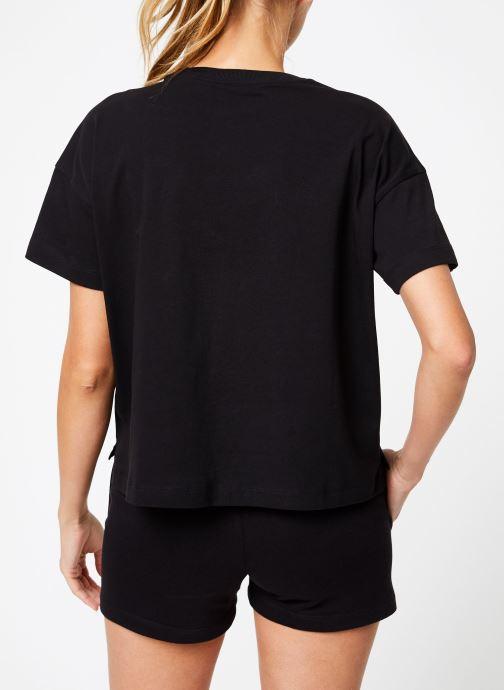 Kleding Champion Champion C-Logo Crewneck T-Shirt Zwart model