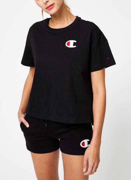 Kleding Champion Champion C-Logo Crewneck T-Shirt Zwart rechts