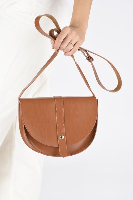 Handbags I Love Shoes LILUNE Brown view from underneath / model view