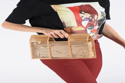 Handtaschen I Love Shoes LIBOIS braun ansicht von unten / tasche getragen
