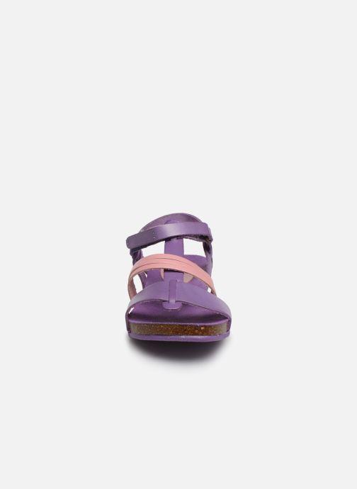 Sandales et nu-pieds Kickers Picnic V Violet vue portées chaussures