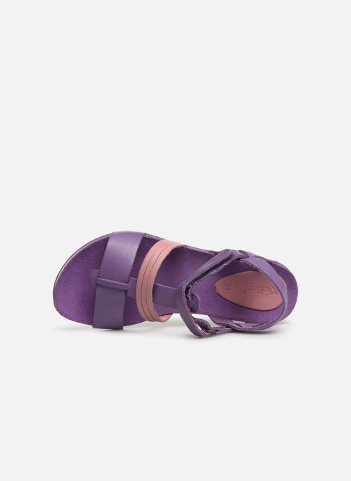 Sandales et nu-pieds Kickers Picnic V Violet vue gauche