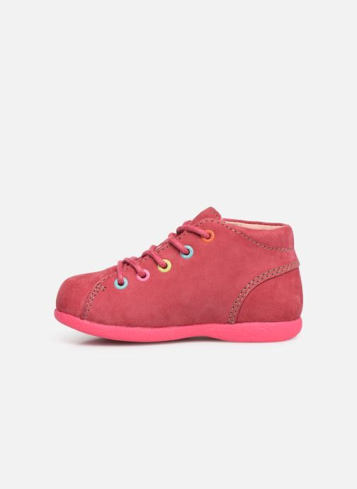 Chaussures à lacets Kickers Babystad Rose vue face