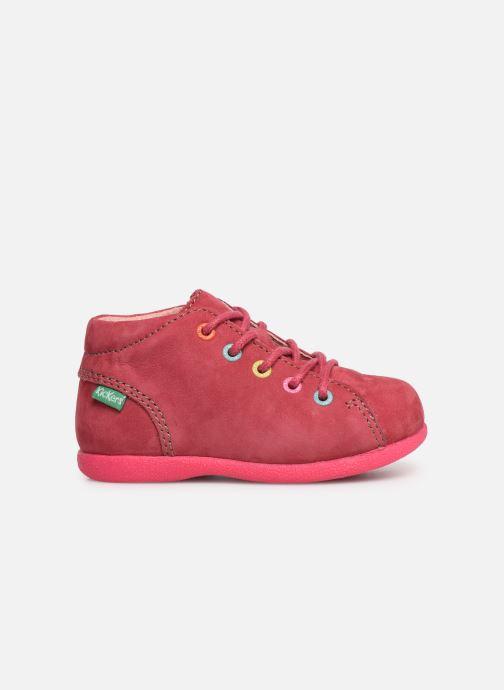 Chaussures à lacets Kickers Babystad Rose vue derrière