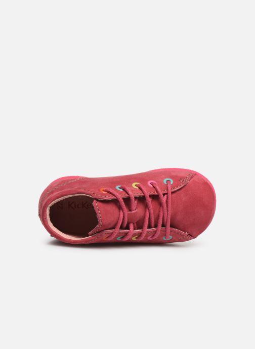 Chaussures à lacets Kickers Babystad Rose vue gauche