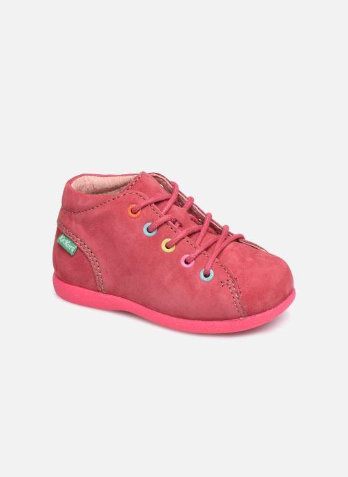 Chaussures à lacets Kickers Babystad Rose vue détail/paire