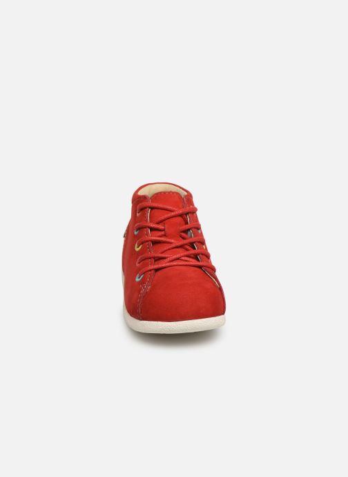 Zapatos con cordones Kickers Babystad Rojo vista del modelo