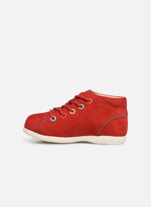 Zapatos con cordones Kickers Babystad Rojo vista de frente