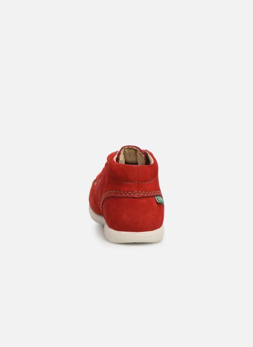 Zapatos con cordones Kickers Babystad Rojo vista lateral derecha