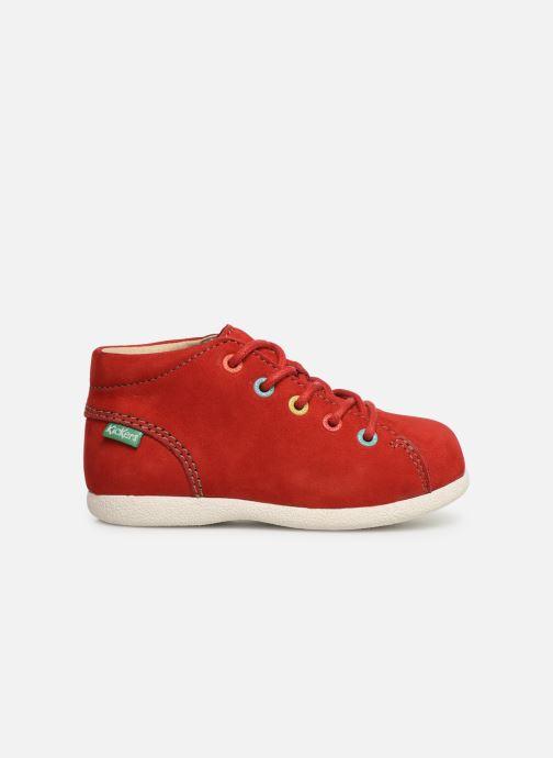 Zapatos con cordones Kickers Babystad Rojo vistra trasera