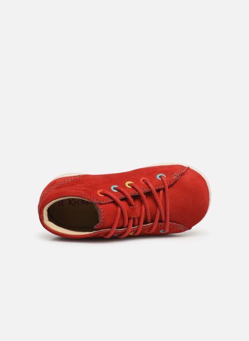 Zapatos con cordones Kickers Babystad Rojo vista lateral izquierda