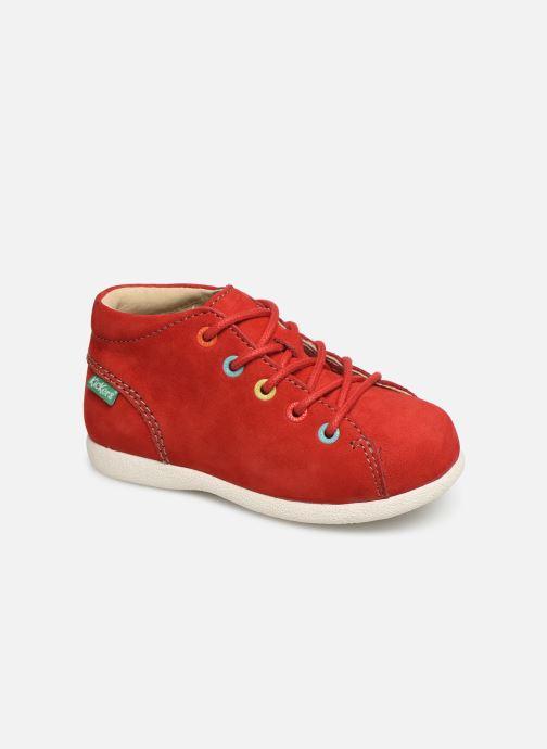 Zapatos con cordones Kickers Babystad Rojo vista de detalle / par