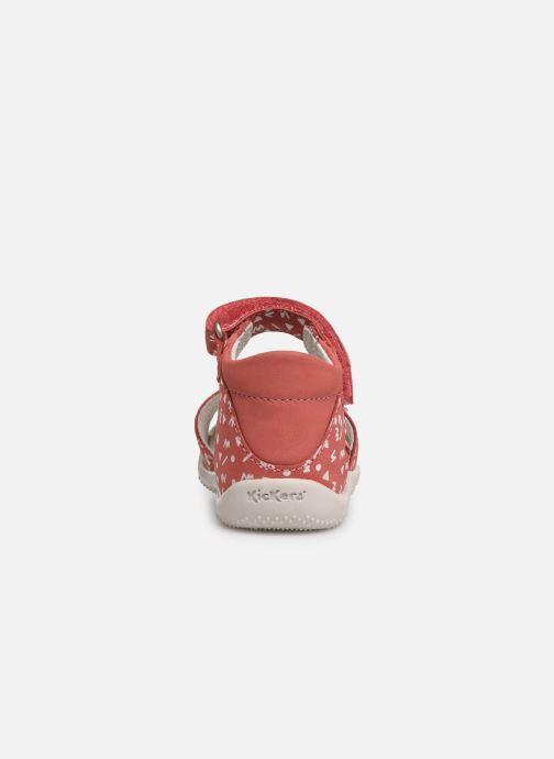 Sandales et nu-pieds Kickers Bazooka Rose vue droite
