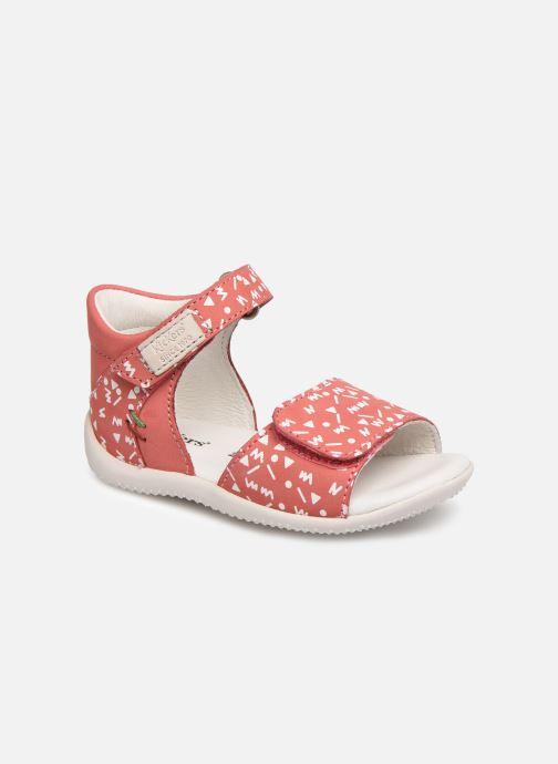 Sandales et nu-pieds Kickers Bazooka Rose vue détail/paire