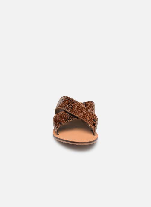 Zuecos I Love Shoes KISUN LEATHER Marrón vista del modelo