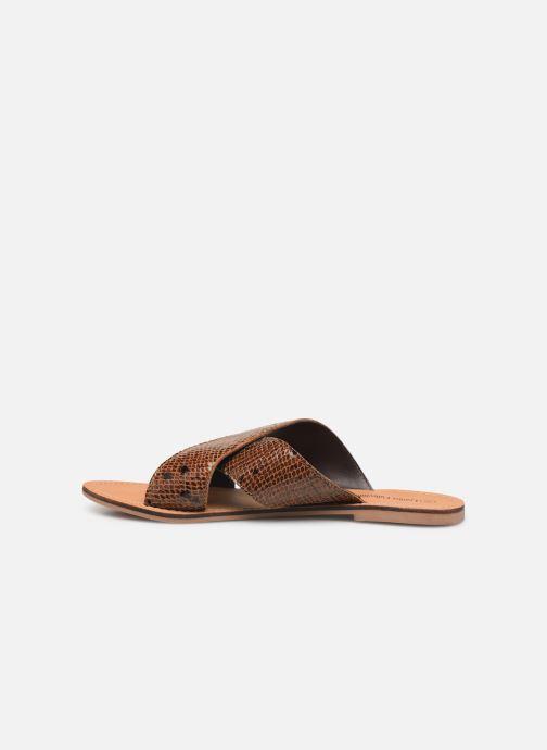 Zuecos I Love Shoes KISUN LEATHER Marrón vista de frente