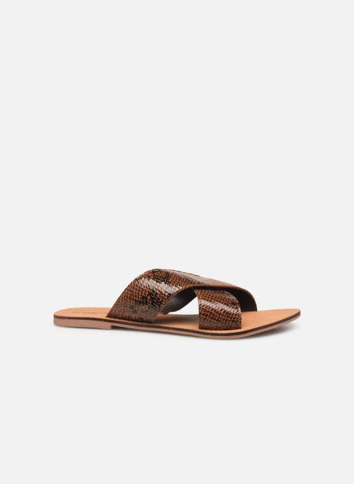 Zuecos I Love Shoes KISUN LEATHER Marrón vistra trasera