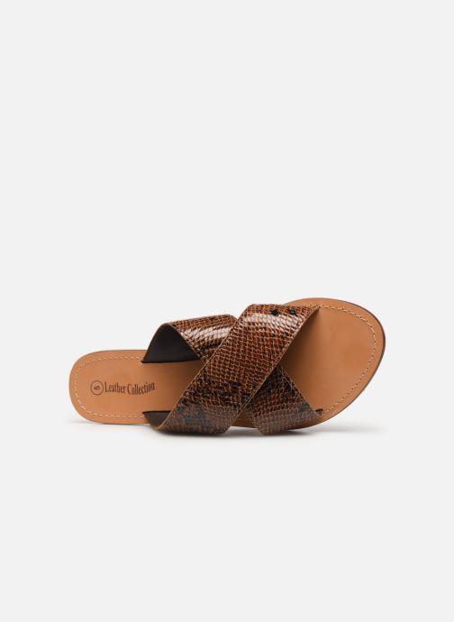 Zuecos I Love Shoes KISUN LEATHER Marrón vista lateral izquierda