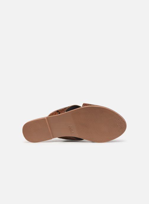 Zuecos I Love Shoes KISUN LEATHER Marrón vista de arriba
