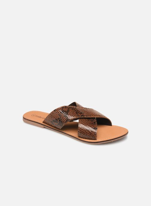 Zuecos I Love Shoes KISUN LEATHER Marrón vista de detalle / par