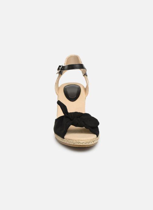 Alpargatas I Love Shoes KISOL Negro vista del modelo