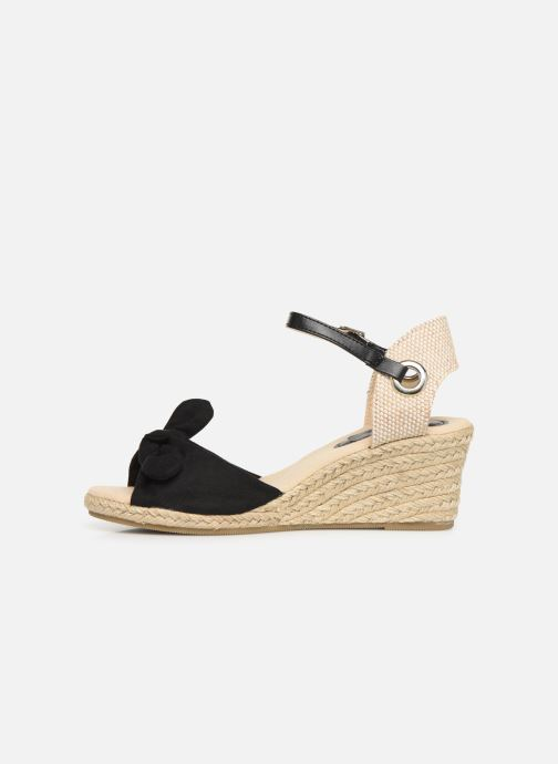 Alpargatas I Love Shoes KISOL Negro vista de frente
