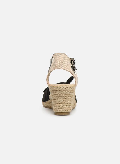 Alpargatas I Love Shoes KISOL Negro vista lateral derecha